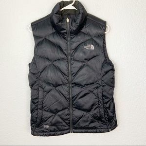 The North Face Black 550 Vest Medium